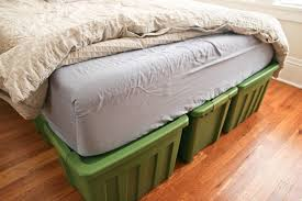 How To Make A Box Bed Frame Ellies A Rubbermaid Bed Frame
