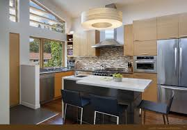cool kitchen design ideas cool kitchen design ideas with drum pendant and mosaic backsplash