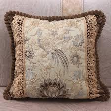 lace home decor online shop european lotus flowers birds jacquard luxury pillow