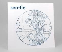 Seattle Map by Seattle Map Print U2014 Archie U0027s Press