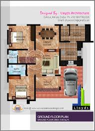home map in square feet sq ft collection modern 2 bedroom 1000