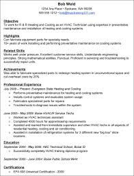 Hvac Sample Resumes by Ac Technician Resume Format Career Services Sample Resumes Ac