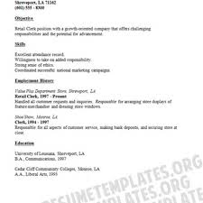 example resume for retail retail stock clerk cover letter sample