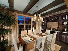 Dining Room Table Runner by Architecture Interesting Dining Room Design With Faux Wood Beams