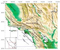 Map Of Los Angeles Area Simulations Of Ground Motion In The Los Angeles Basin Based Upon
