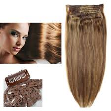 remy hair extensions 21 clip in hair extensions strands color p6 27