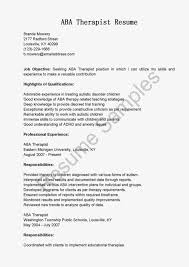 Occupational Therapist Resume Sample by Resume Samples Aba Therapist Resume Sample