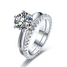 Sterling Silver Wedding Ring Sets by Compare Prices On Sterling Silver Diamond Wedding Ring Sets