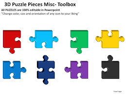 smart art puzzle pieces powerpoint template free editable jigsaw
