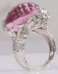 silver pink rings images Silver pink mermaid ring silver rings jpg
