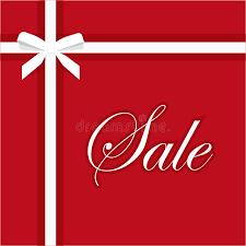 sale banner vector illustration gift bow ribbon