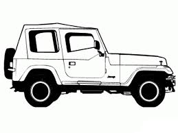 safari jeep coloring page jeep wrangler coloring pages