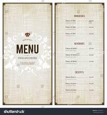 restaurant menu design stock vector 192335261 shutterstock