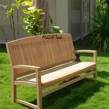 wood outdoor patio bench tenafly