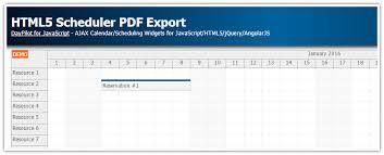 javascript tutorial pdf html5 scheduler pdf export javascript daypilot code