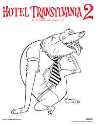 wayne hotel transylvania coloring page coloring pages
