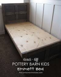 Pottery Barn White Twin Bed Free Plans To Build A Wood Bed Inspired By Pottery Barn Kids