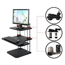 Sit Stand Adjustable Desk by Ergonomic 3 Tier Adjustable Height Sit Stand Up Desk Computer