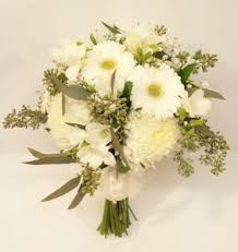 wedding flowers calgary white and green wedding bouquets dahlia floral design