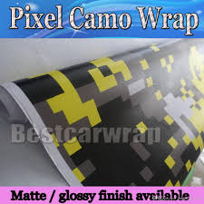 Ford Camo Truck Wraps - yellow digital tiger camo vinyl car wrap styling with air bubble