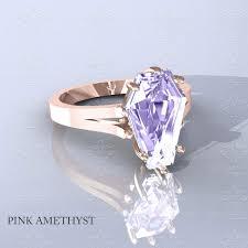rose gold amethyst diamond ring sapphire studios u0027autumn u0027 natural rose gold coffin cut ring