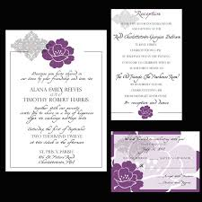 Purple And Silver Wedding Invitations 33 Best Wedding Invitation Images On Pinterest Wedding Thank You