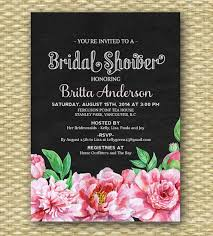 bridal brunch invitations vintage chalkboard bridal shower invitation shabby chic bridal