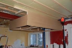 caisson hotte cuisine construire un caisson de hotte en mdf au dessus d un ilot central
