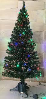 pre lit fiber optic tree and ft trees 50 pre