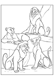 colouring lion exciting coloring sheets