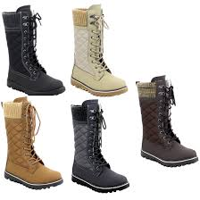 zipper boots s s lace up quilted sweater collar side zipper boots