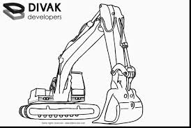 marvelous track hoe coloring turn picture coloring
