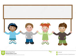 kids holding a banner royalty free stock photo image 16635495