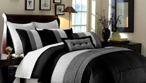 bedding set fascinate favorable astounding grey and white