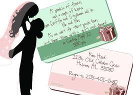 inspiring wording for bridal shower invitations for gift cards 52