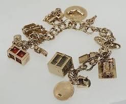 charm bracelet gold vintage images 1960 39 s vintage 14k gold charm bracelet church train dice jpg