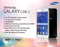 2 samsung galaxy core samsung galaxy core 2 with android 4 4 kitkat launched in nepal