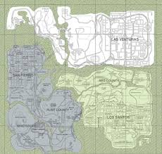 San Andreas Map Image Gallery Of Grand Theft Auto San Andreas Map