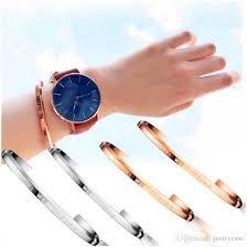 man cuff bracelet images Luxury brand dw lovers bracelet classic cuff rose gold silver jpg