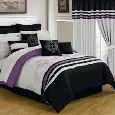 24 Piece Comforter Set Queen Lavish Home Amanda Purple 24 Piece Queen Comforter Set 66 00014