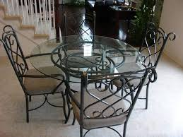 Lovable Glass Top Kitchen Table Round Glass Dining Table Set For - Glass kitchen tables
