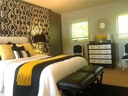 Black White Grey Grey And Gold Bedroom Contemporary Bedroom - Black and gold bedroom designs