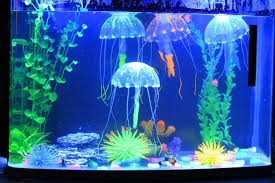 1 pcs Small Size Fluorescent Glowing Jellyfish Aquarium