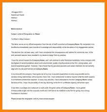 6 sample professional resignation letter resign latter