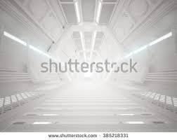 Futuristic Design 3d Illustration Futuristic Design Spaceship Interior Stock
