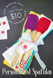 personalized spatulas homemade gift for less than 10 on