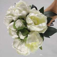Artificial Peonies 2017 Upscale Peony Camellia Flower Bouquet Artificial Flowers For