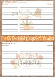 printable recipe cards 4 x 6 free printable thanksgiving recipe cards recipe cards