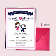 free pdf download cute couple illustration u2013 wedding invitation