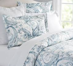 Duvet Covers Teal Blue Joli Paisley Duvet Cover U0026 Sham Pottery Barn